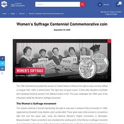 Women's Suffrage Centennial Commemorative coin