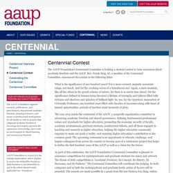 Centennial Contest