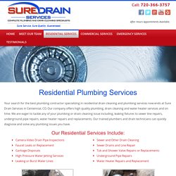 Faucet Repair Centennial CO