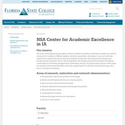 NSA Center for Academic Excellence in IA - FSCJ