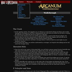 Mike's RPG Center - Arcanum - Walkthrough