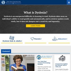 Yale Center For Dyslexia & Creativity