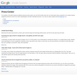 Press Center · Inside Google Search