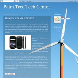 Palm Tree Tech Center: IPHONE REPAIR SERVICE