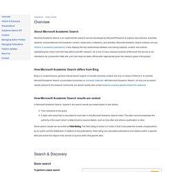 Help Center - Microsoft Academic Search