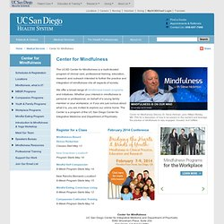 Center for Mindfulness at UC San Diego Health System