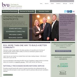 BVU: The Center for Nonprofit Excellence -