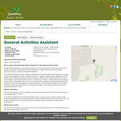 Center Parcs Careers