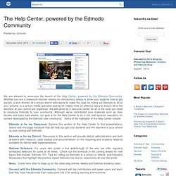 The Help Center, powered by the Edmodo Community