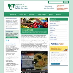 About CSPI ~ Center for Science in the Public Interest