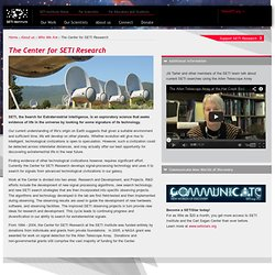 The Center for SETI Research
