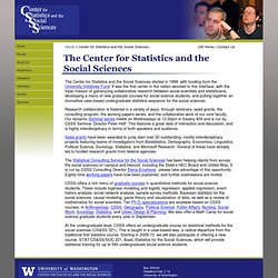 The Center for Statistics and the Social Sciences
