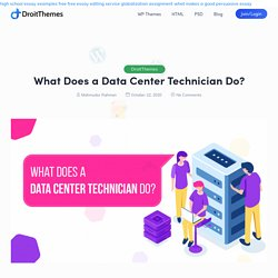What Does a Data Center Technician Do?