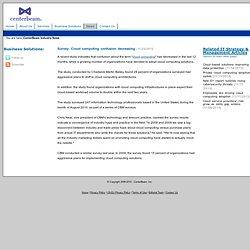 Inc News: Survey: Cloud computing confusion decreasing