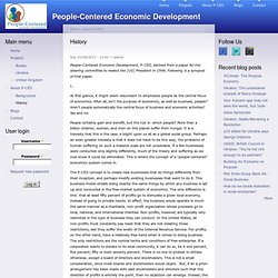People-Centered Economic Development : History