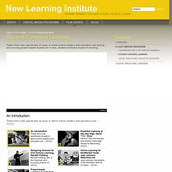 Student-Centered Learning | New Learning Institute