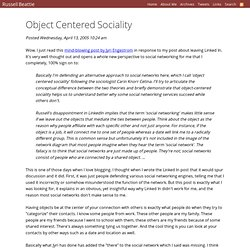 Object Centered Sociality