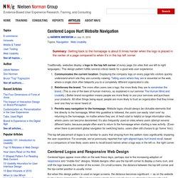 Centered Logos Hurt Website Navigation