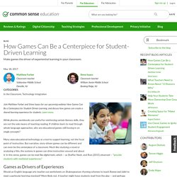 How Games Can Be a Centerpiece for Student-Driven Learning