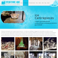 Ice centerpieces Canada