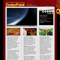 CenterPoint: The Online National Video Magazine for Online Educators