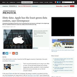 Dirty data: Apple has the least-green data centers, says Greenpeace