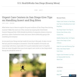 Urgent Care Centers in San Diego Give Tips on Handling Insect and Bug Bites