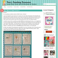 One Week to Math Centers! - Tina's Teaching Treasures