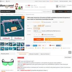 1600 ondes moyennes a3 bureau de 30x40 centimètres diy dessin de graveur à laser violet cnc imprimante rassemblant des kits Vente-Banggood.com