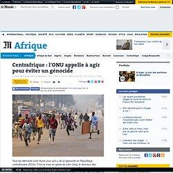 L'ONU craint un génocide en République centrafricaine