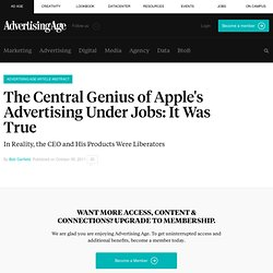 The Central Genius of Apple's Advertising Under Jobs | Bob Garfield