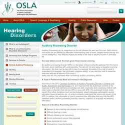 OSLA - Central Auditory Processing