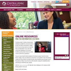 Central Penn College - Online Resources