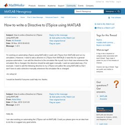 MATLAB Central - How to write a Diractive to LTSpice using MATLAB