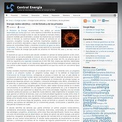 Central Energía » Energía núcleo eléctrica – rol del Estado y de los privados