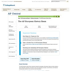 ap central european history essay Ap® european history 2010 scoring commentary (form b) question 4 sample: 4a score: 9 this essay provides a sophisticated thesis and discusses both perugino and michelangelo it provides multiple examples illustrating renaissance values and offers insightful analysis.