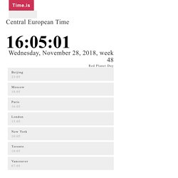 Central European Time - exact time now - Time.is