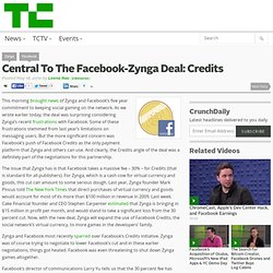 Central To The Facebook-Zynga Deal: Credits