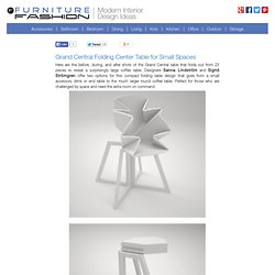 Grand Central Folding Center Table for Small Spaces
