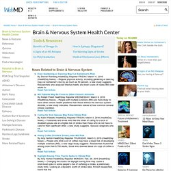 WebMD Central Nervous System & Brain News - Timely health and medical news