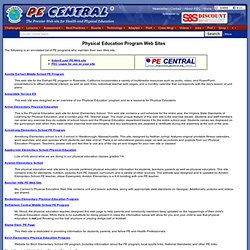 PE Central: Physical Education Program Web Sites