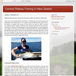 Making Fishing Lake Taupo Nz A Success With The Advice Of Experts