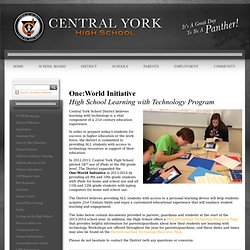 Central York High School - Grade 9 iPad Pilot