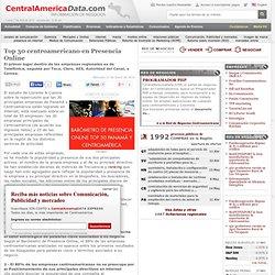 Top 30 centroamericano en Presencia Online
