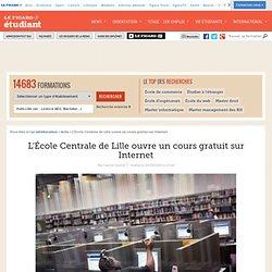 L'École Centrale de Lille ouvre un cours gratuit sur Internet