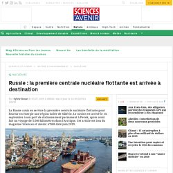 Une centrale nucléaire flottante en route pour la Tchoukotka