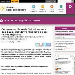 Centrale nucléaire de Saint-Laurent-des-Eaux: EDF devra répondre de ses fautes en justice