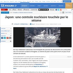 International : Un nouveau séisme frappe le nord-est du Japon