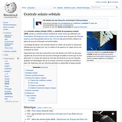 Centrale solaire orbitale