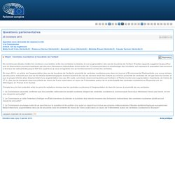 PARLEMENT EUROPEEN - Réponse à question E-01511-15 Centrales nucléaires et leucémie de l'enfant